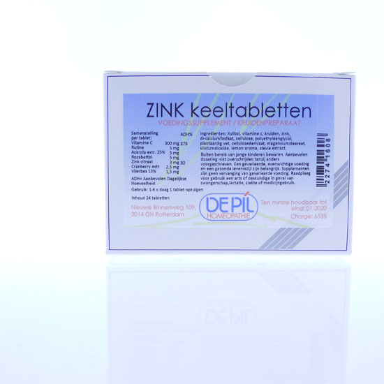 Zink Keel tabletten